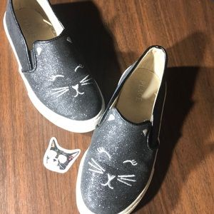 Adorable Kitty-Kat Slip-On Sneakers!